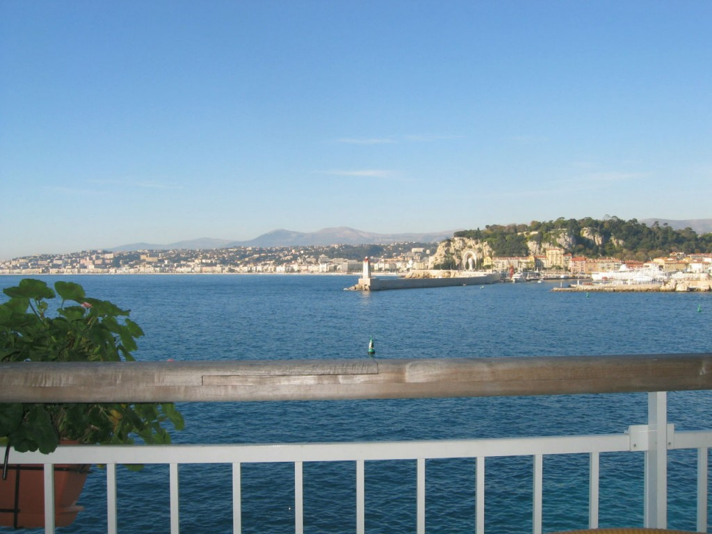 View at the famous Bouillabaisse and fish restaurant in Nice